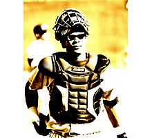 a catcher's look... Photographic Print