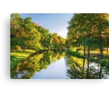 Boston Flows Green With Summer Canvas Print