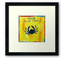 Fresh Blue Crab Framed Print