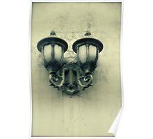 Lanterns (Sepia) Poster