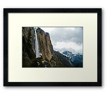 Upper Falls with Half Dome  Framed Print