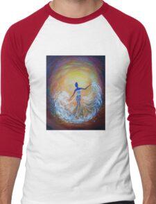 Dancer in White Dress Men's Baseball ¾ T-Shirt