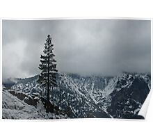 Upper Falls Trail Snow Line Poster