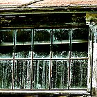 Old Whitewash and Dirty Window by Bob Wall
