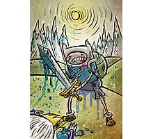 Adventure Time, Finn, Ice King, print, Children's Room , Wall Art, Cartoon Network, Art print, Fin, cartoon, TV, show, sword, blue blood, snow, mountains, backpack Photographic Print