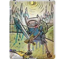 Adventure Time, Finn, Ice King, print, Children's Room , Wall Art, Cartoon Network, Art print, Fin, cartoon, TV, show, sword, blue blood, snow, mountains, backpack iPad Case/Skin