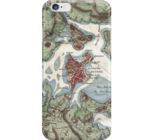 Vintage Map of Boston Harbor (1807) iPhone Case/Skin
