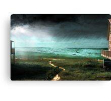 Rain Storm (an image & a poem) Canvas Print