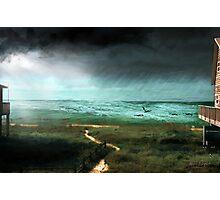 Rain Storm (an image & a poem) Photographic Print
