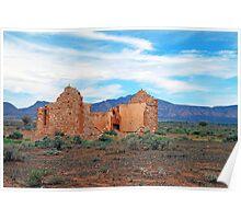 Farmhouse Ruins, Outback South Australia Poster