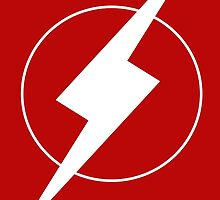 Simplistic Flash Symbol white by zoturner