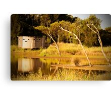 Reflections on the water at Greenfields Wetlands Canvas Print