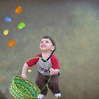 Dominic Catching Eggs by Linda Miller Gesualdo