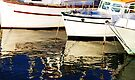 Boats Reflections - Wollongong Harbour - by Evita