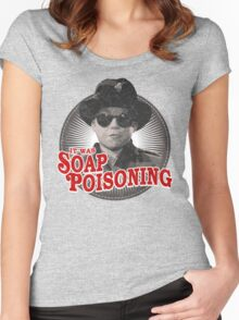A Christmas Story - Ralphie and the Soap - Soap Poisoning - Christmas Movie Pop Culture - Holiday Movie Parody Women's Fitted Scoop T-Shirt