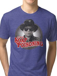 A Christmas Story - Ralphie and the Soap - Soap Poisoning - Christmas Movie Pop Culture - Holiday Movie Parody Tri-blend T-Shirt