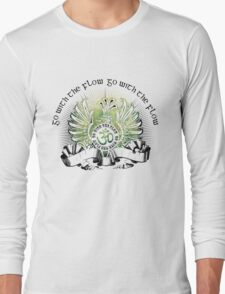 Go with the Flow Griffin & Slogan T-Shirt