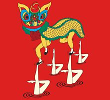 Chinese Lion Dance and Synchronized Swimming are Performing Together Unisex T-Shirt