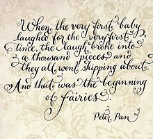 The beginning of fairies quote by Melissa Goza