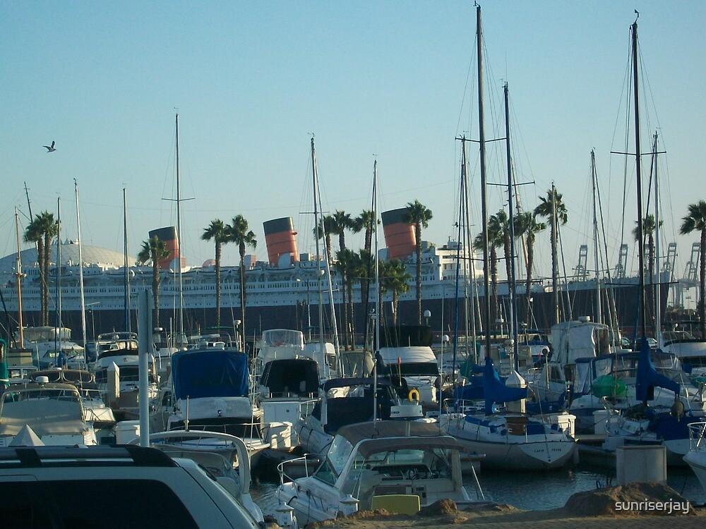 Queen Mary at Long Beach Marina by sunriserjay