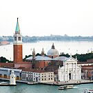 Church of San Giorgio Maggiore water colour painting, Venice, Italy by georgelim