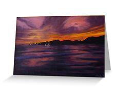 Sunset in Western Cape Greeting Card