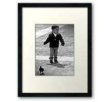 I Think those Birds are following me, well I'm gonna get them! Framed Print