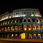 Roman Colosseum at night, Rome, Italy by georgelim