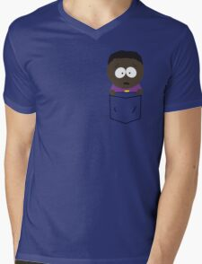 Pocket Token Mens V-Neck T-Shirt