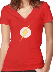 Simplistic Flash 2 Women's Fitted V-Neck T-Shirt