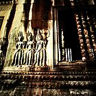 Bas relief @ Angkor Wat by Collette Johnson