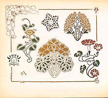 Maurice Verneuil Georges Auriol Alphonse Mucha Art Deco Nouveau Patterns Combinaisons Ornementalis 0056 by wetdryvac