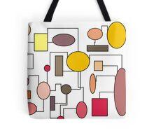 "Atomic Era Art Style ""Bubbles"" Tote Bag"