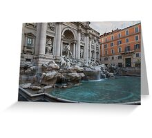 Rome's Fabulous Fountains - Trevi Fountain, No Tourists Greeting Card