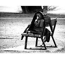 Alone in the rain Photographic Print