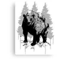 Grizzly bear drawing Canvas Print