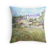 Chateau Rochechouart Throw Pillow