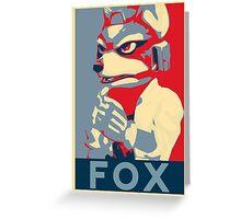 Fox Gives Us Hope Greeting Card