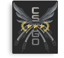 Counter Strike Global Offensive - Butterfly Wings: Gold Nova III Canvas Print