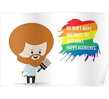 Chibi Bob Ross w/Quote Poster