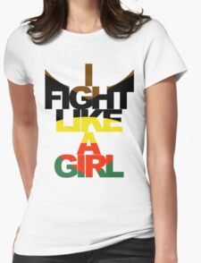I Fight Like A Girl - HG Womens Fitted T-Shirt