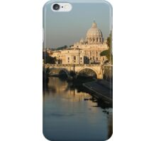 Rome - Iconic View of Saint Peter's Basilica Reflecting in Tiber River iPhone Case/Skin