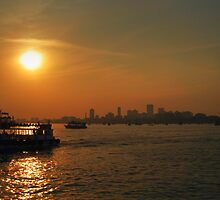 Sunset Over Mumbai by Christopher M Tsorotes
