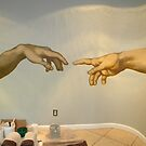 Creation of Adam (detail) by Zack Nichols