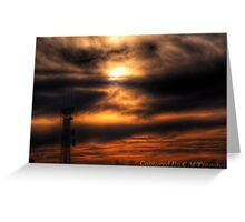 Sunset Over Geelong Greeting Card