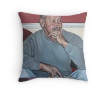 """""""And They're Off!"""" Throw Pillow"""