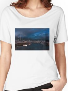 Blue Hour - Stanley Park Marina, Vancouver, British Columbia, Canada Women's Relaxed Fit T-Shirt