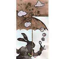 Mr. Rabbit learns from Wilhelm Reich Photographic Print