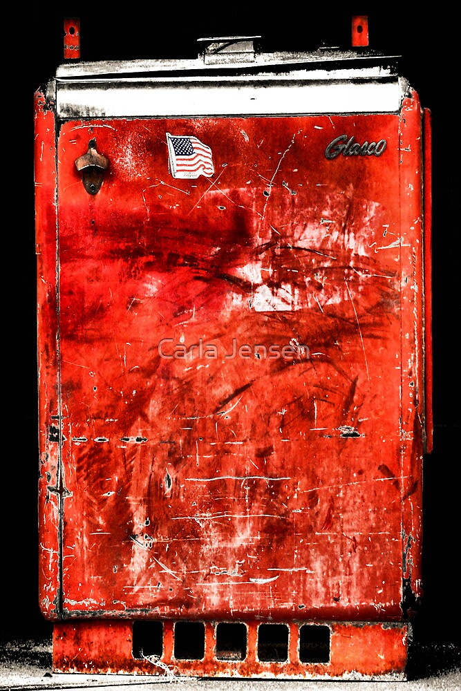 "Old ""Slider"" Coca-Cola Machine by Carla Jensen"