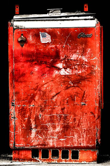 "Old ""Slider"" Coca-Cola Machine by Carla Jensen"